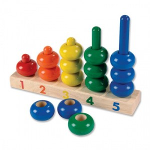 Classic wooden counting toy - photo used with permission from forsmallhands.com