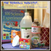 Foaming Monster Chemical Reaction