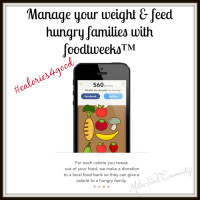 foodtweeks™ provides an easy way to manage your weight and health while feeding hungry families – all for free!